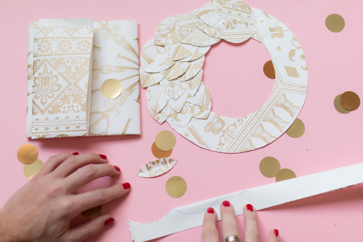 DIY Paper wreath Couronne en papier I Sp4nkblog