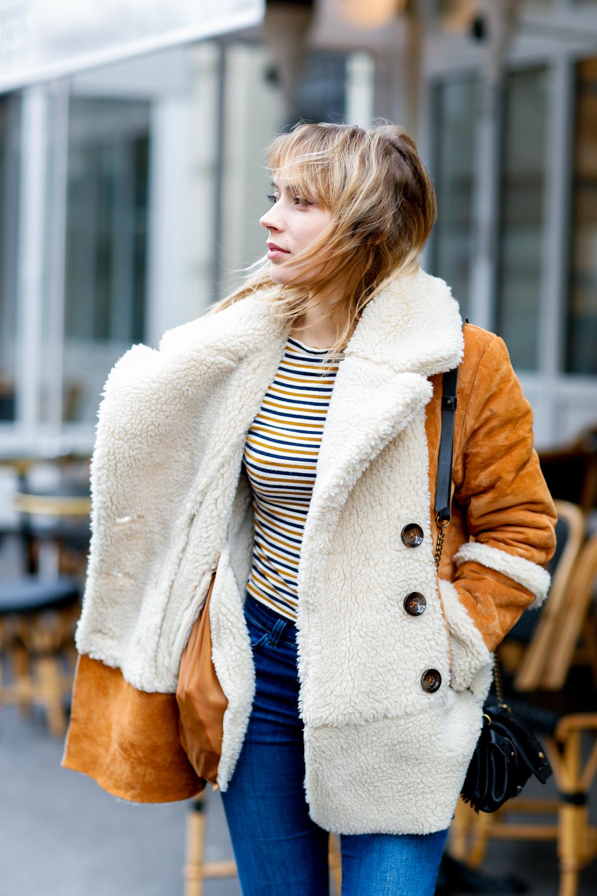 Look seventies manteau en daim et flare I Sp4nkblog-7