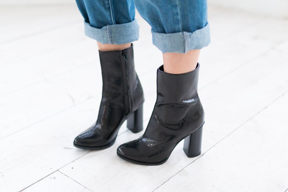 Combinaison en jean et manteau fausse fourrure I Sp4nkblog-9