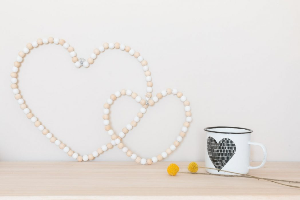 DIY #61 Les petits coeurs perlés en bois