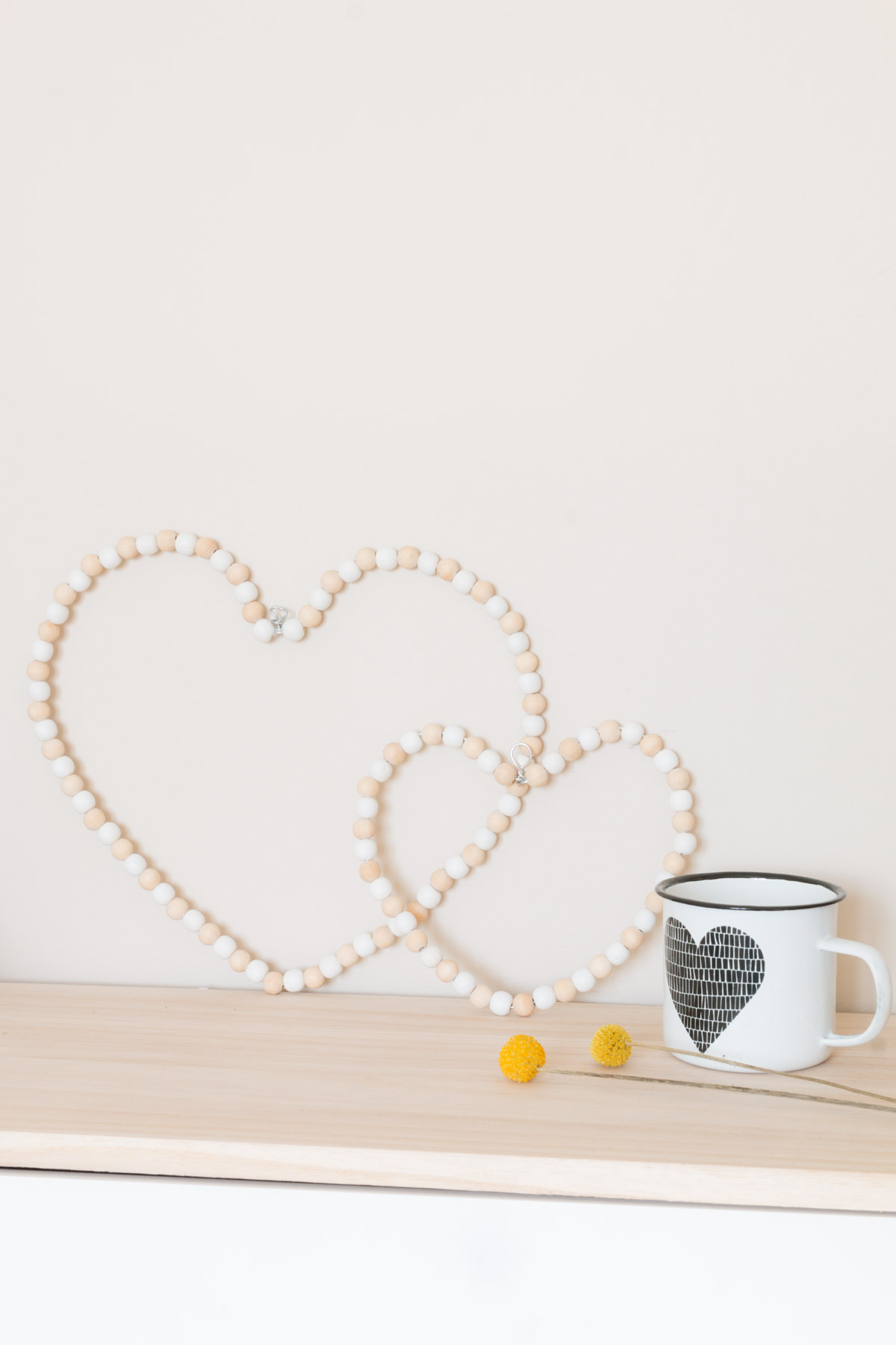 Pearl wood heart to decorate your home sweet home I Sp4nkblog-3