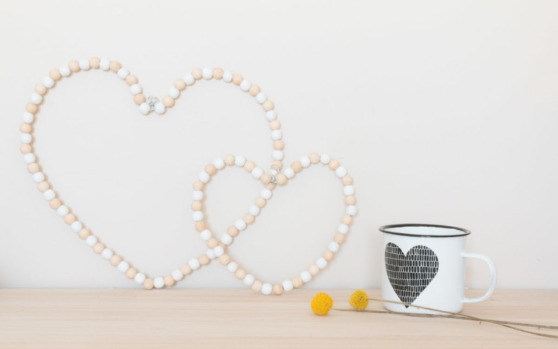 Pearl wood heart to decorate your home sweet home I Sp4nkblog