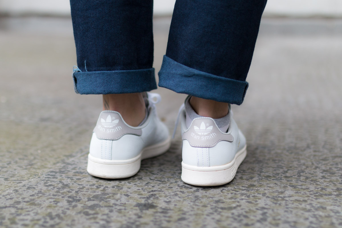 Salopette en jean pull raye et stan smith I Sp4nkblog-6