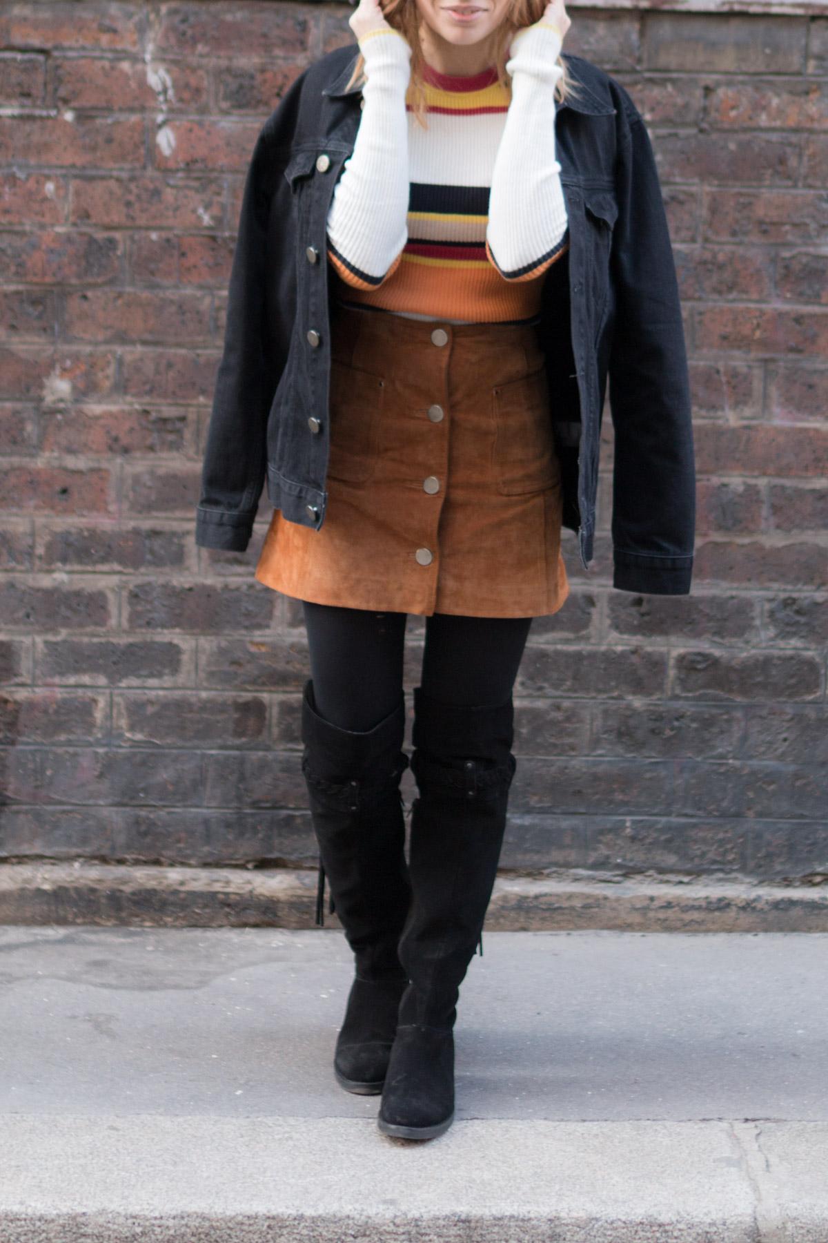 cuissarde et veste en jean I Sp4nkblog_-2