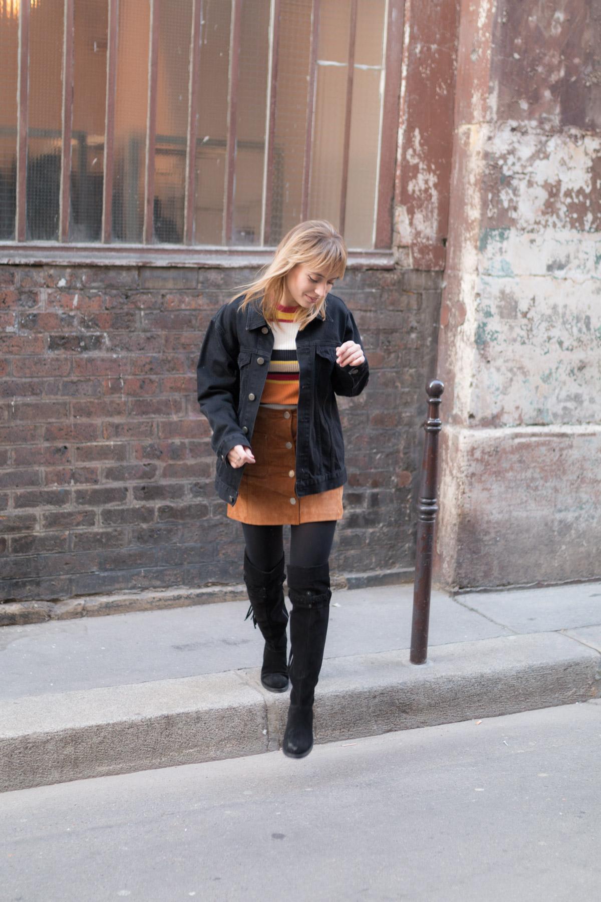 cuissarde et veste en jean I Sp4nkblog_-3