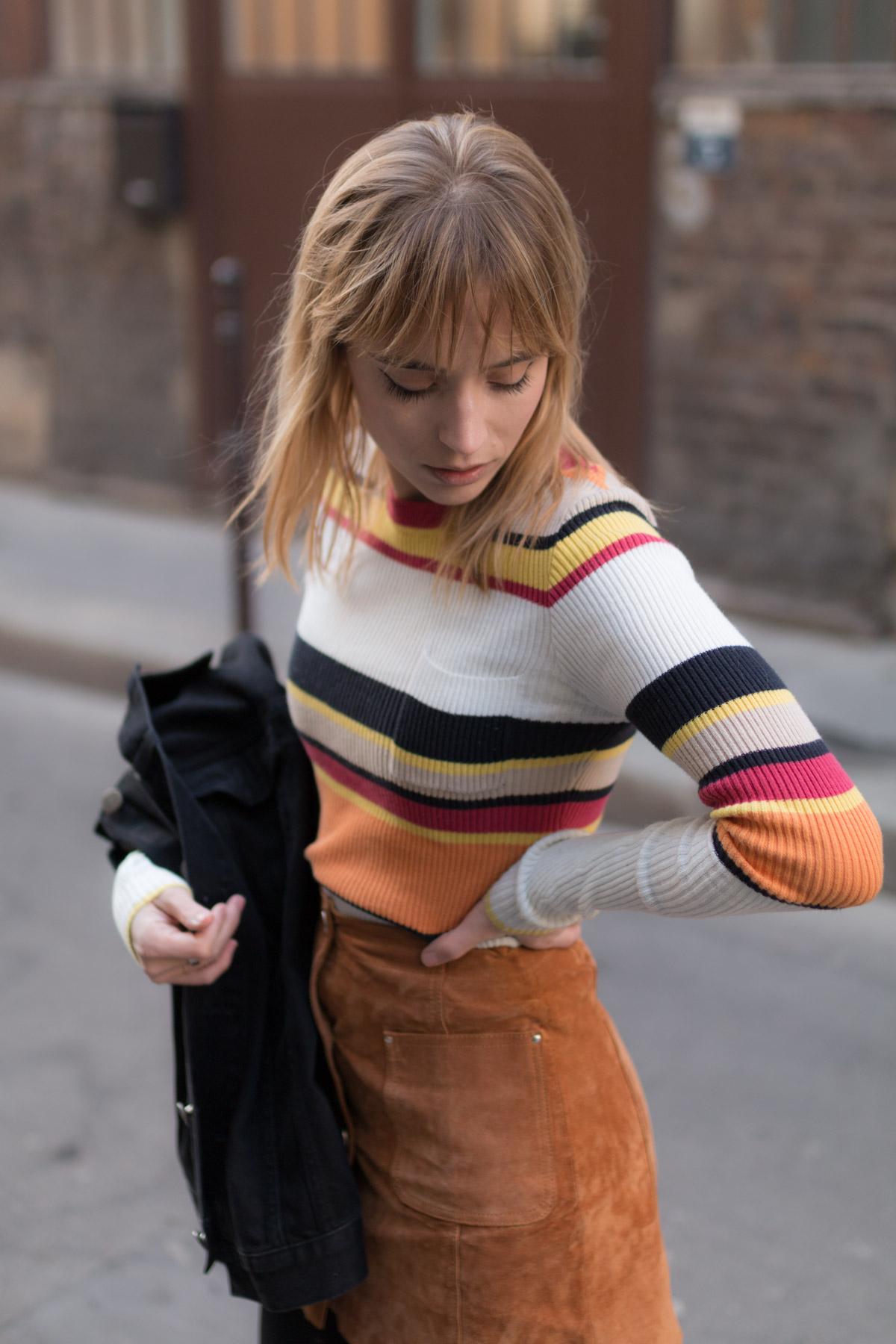 cuissarde et veste en jean I Sp4nkblog_-5