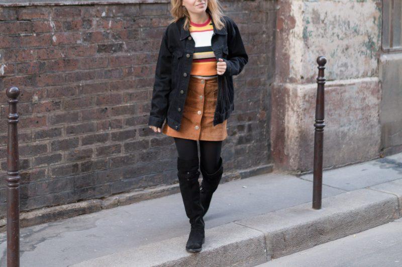 cuissarde et veste en jean I Sp4nkblog_