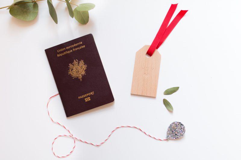 Etiquette en bois suitcase tag diy I Sp4nkblog