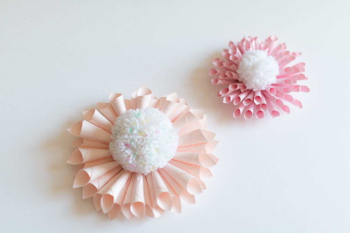 Paper flower and pompon diy I Sp4nkblog-19
