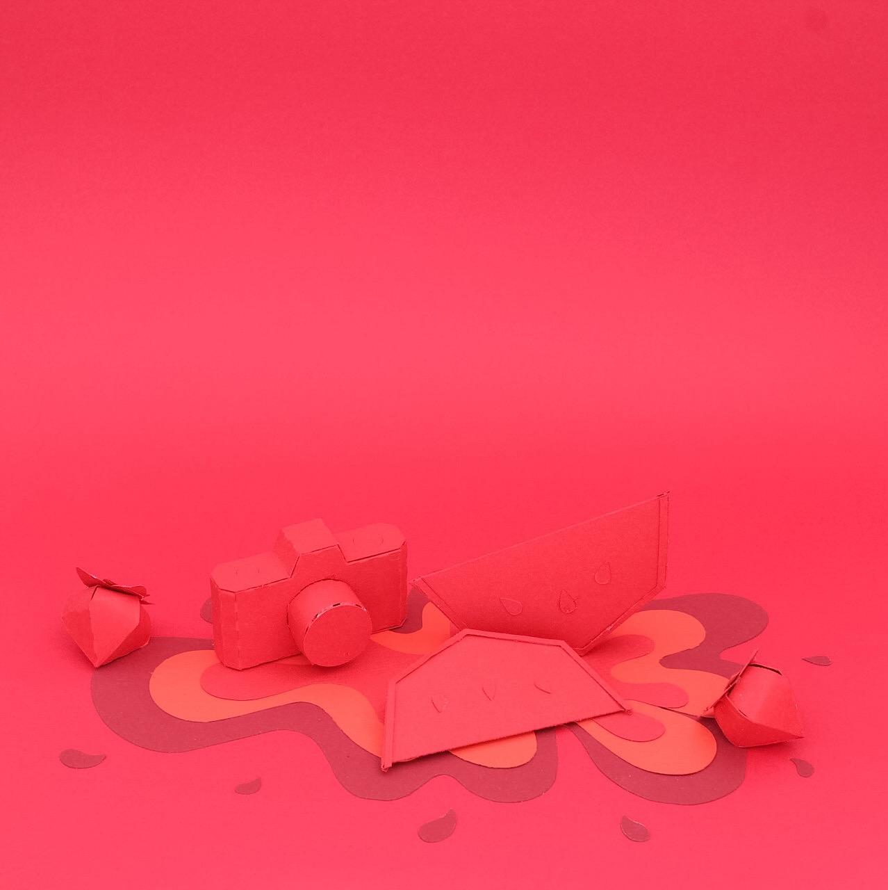 Rouge Montage papier coloré : color papercut l Sp4nkblog