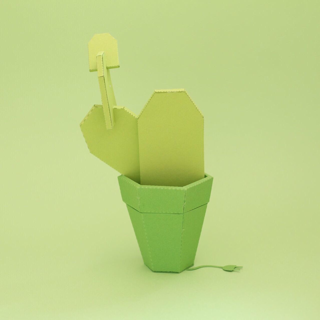 Vert Montage papier coloré : color papercut l Sp4nkblog