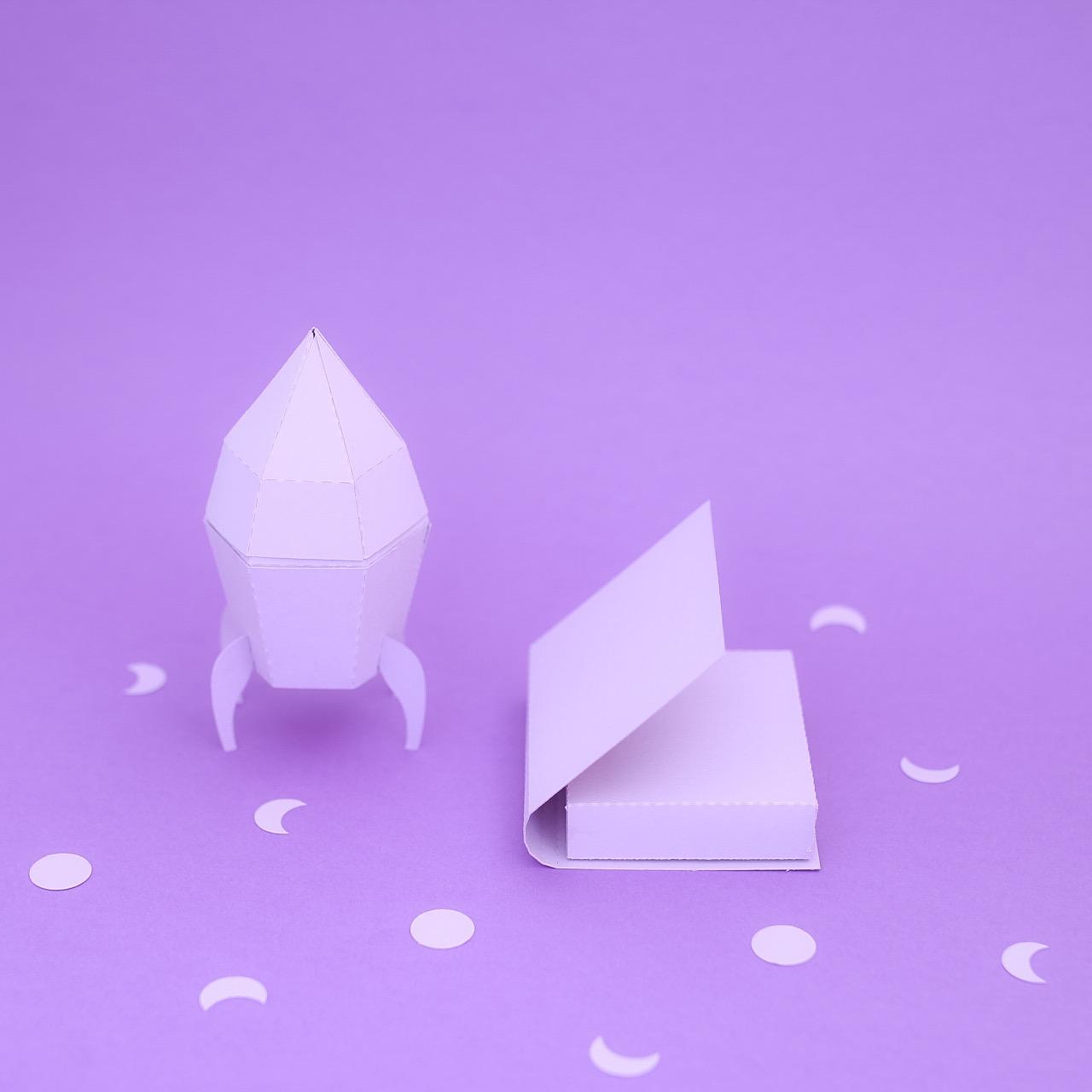 Violet Montage papier coloré : color papercut l Sp4nkblog