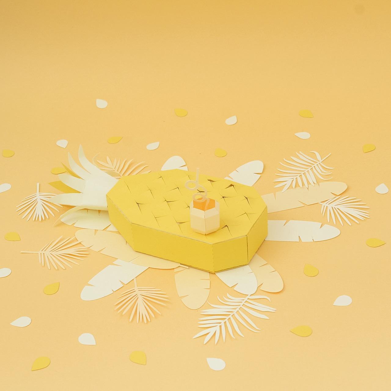 jaune Montage papier coloré : color papercut l Sp4nkblog