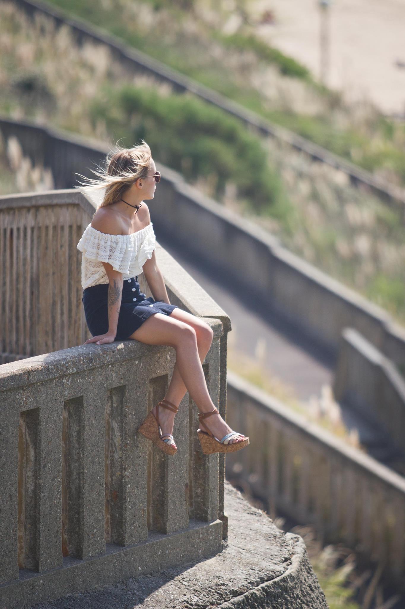 Top épaules dénudées jupe en velours et sandales Kjacques I Sp4nkblog 3
