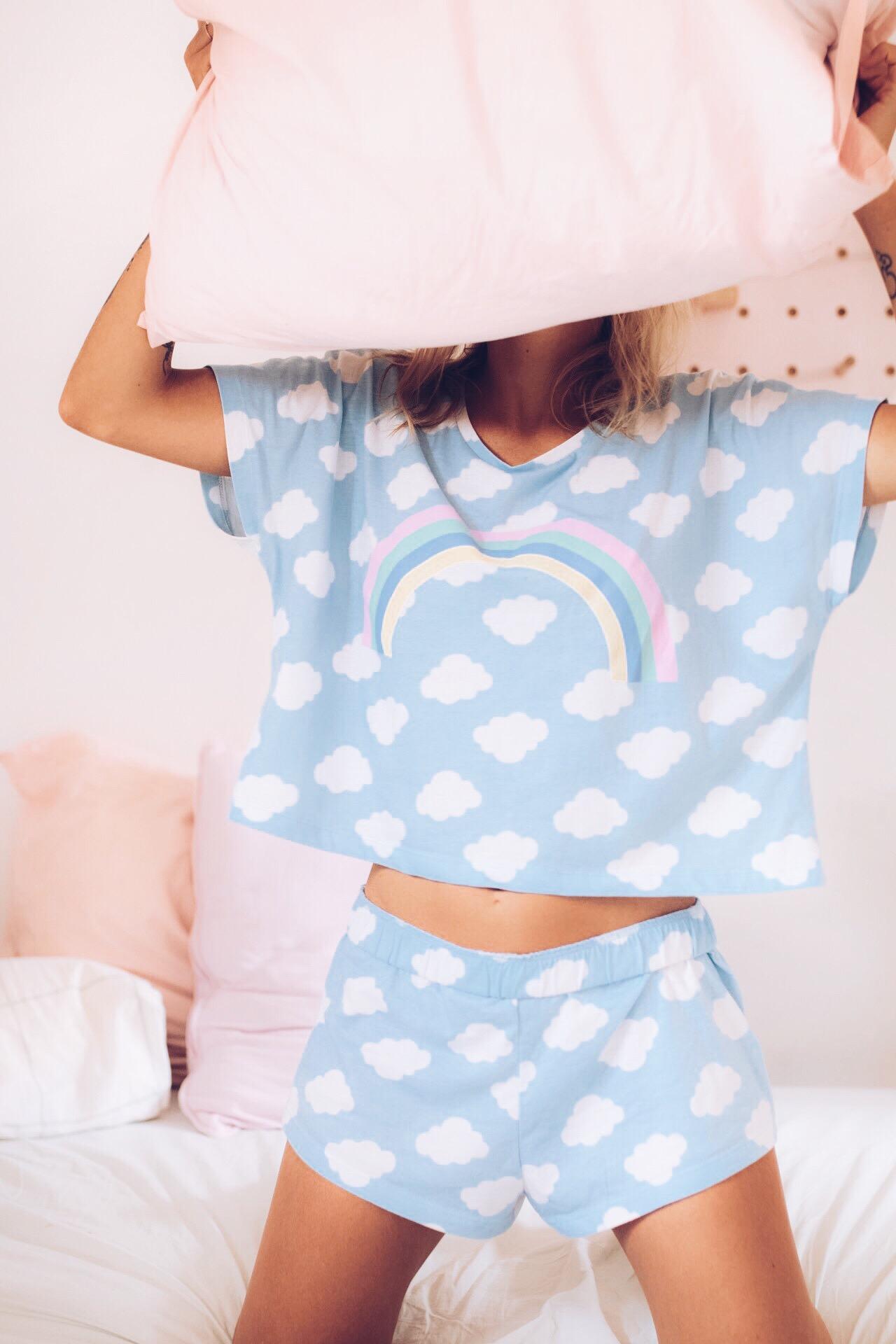 Pyjama nuage et arc en ciel I Sp4nkblog