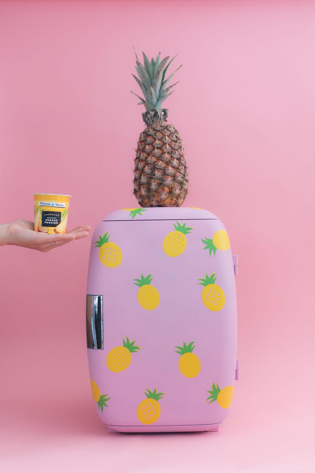 DIY #72 Un frigo rose avec des ananas