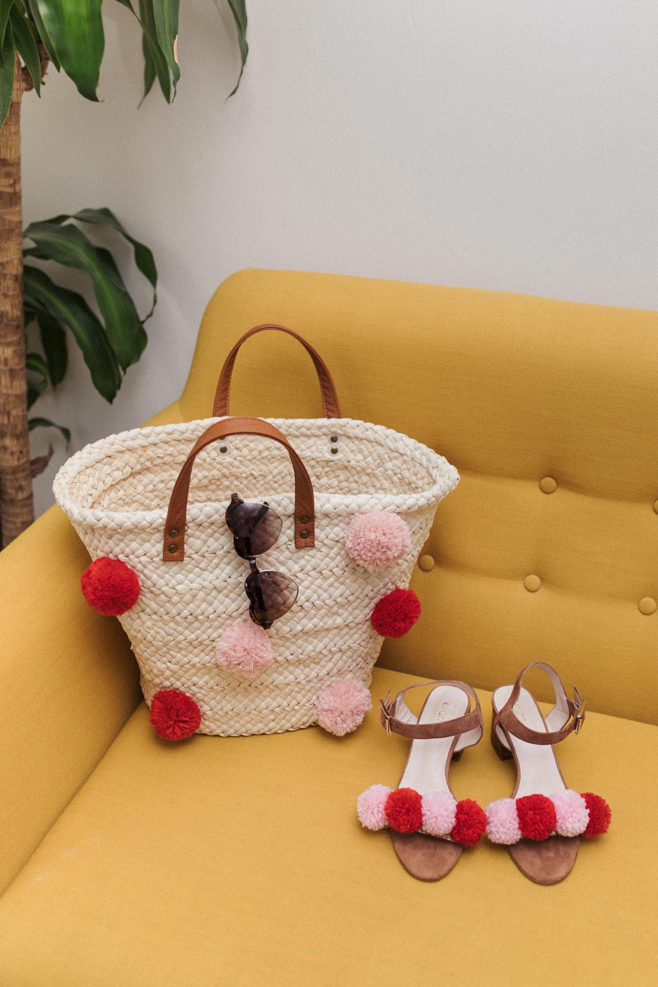 diy 85 le panier et les sandales pompons sp4nk blog. Black Bedroom Furniture Sets. Home Design Ideas