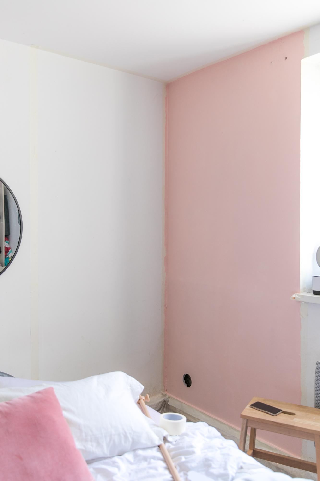 peinture-chambre-mur-rose