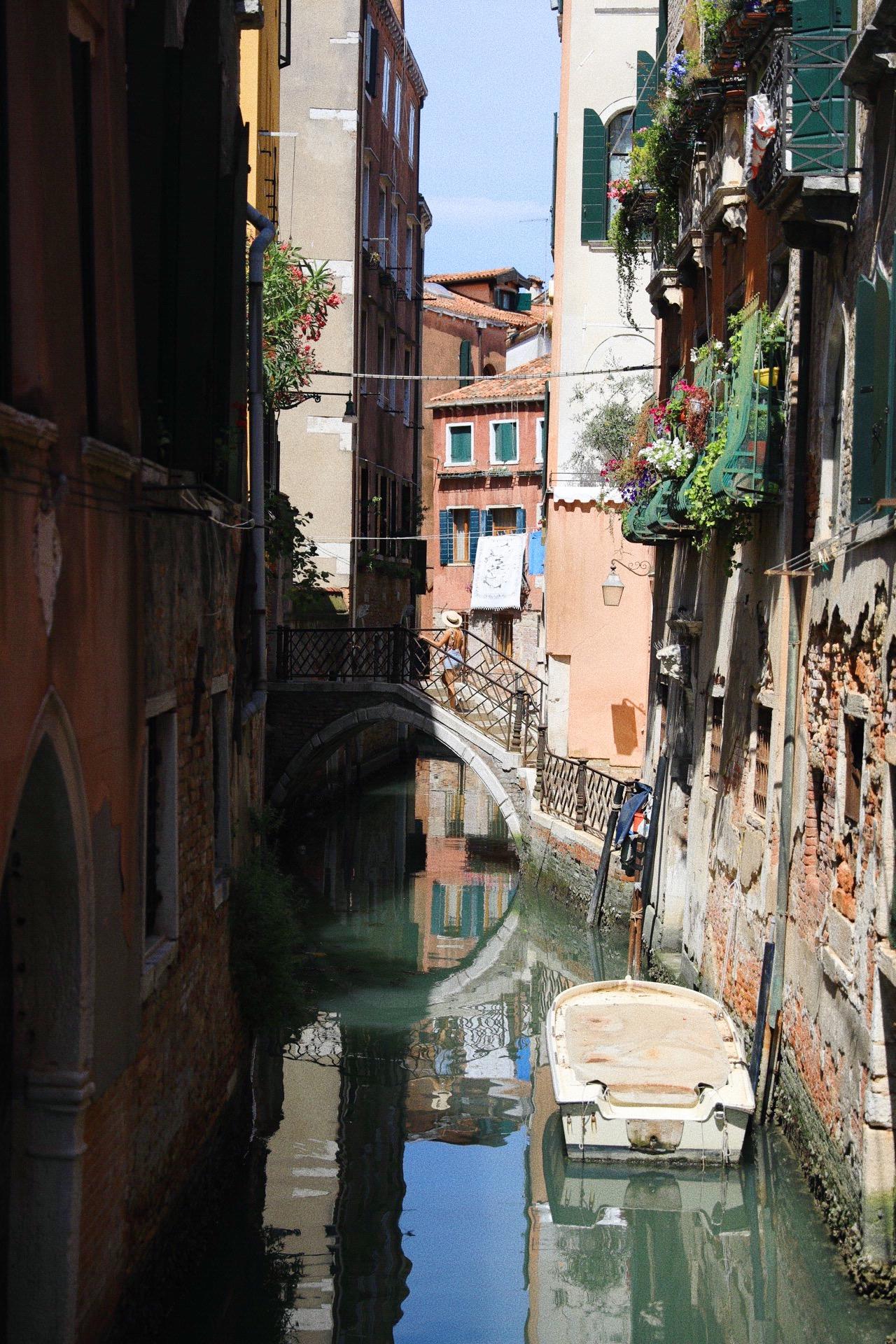 les ponts et les petites ruelles de venise