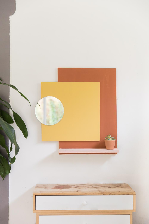 DIY déco murale colorée avec miroir