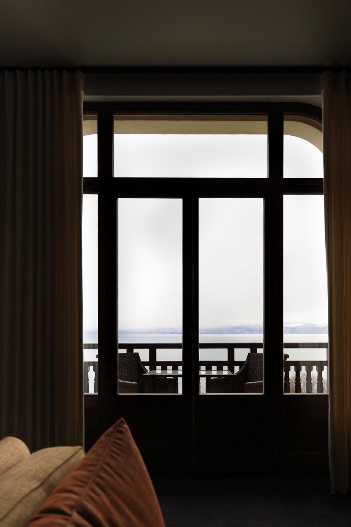 vue chambre d'hotel au royal evian