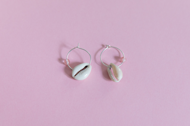 DIY collier et boucle d'oreille coquillage parure bijou-16