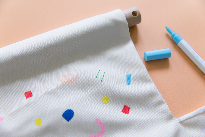fabriquer une balancoire en tissu pour son bebe diy-15