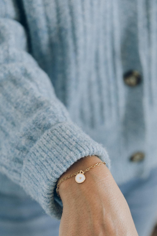diy bijou Bracelet fin breloque coeur email-2