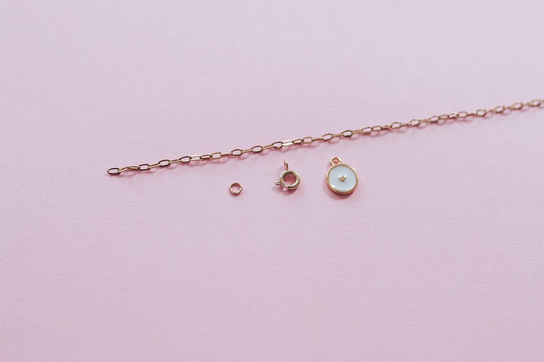 diy bijou Bracelet fin breloque coeur email-5