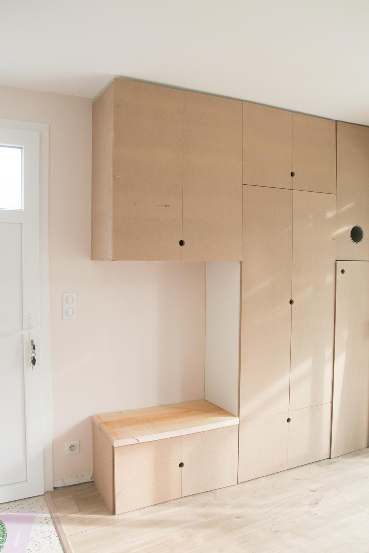 DIY meuble de rangement sur mesure entree-10