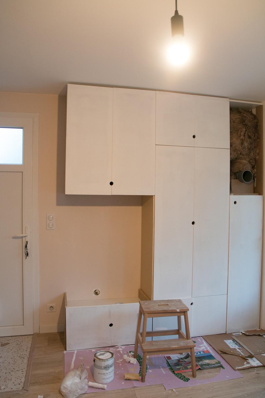 DIY meuble de rangement sur mesure entree-15