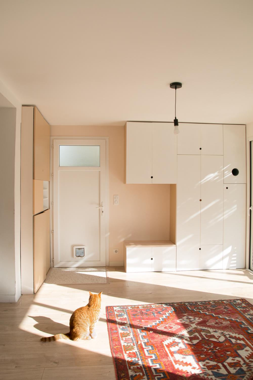 DIY meuble de rangement sur mesure entree-20