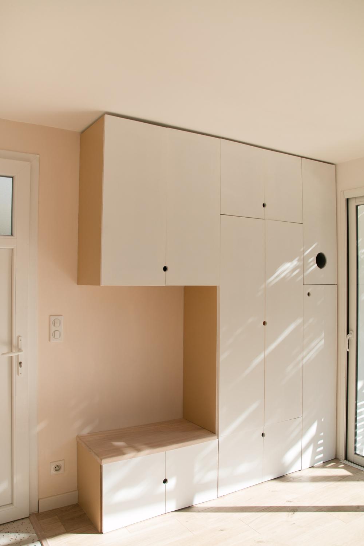 DIY meuble de rangement sur mesure entree-22