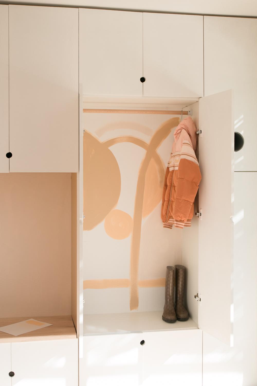 DIY meuble de rangement sur mesure entree-39