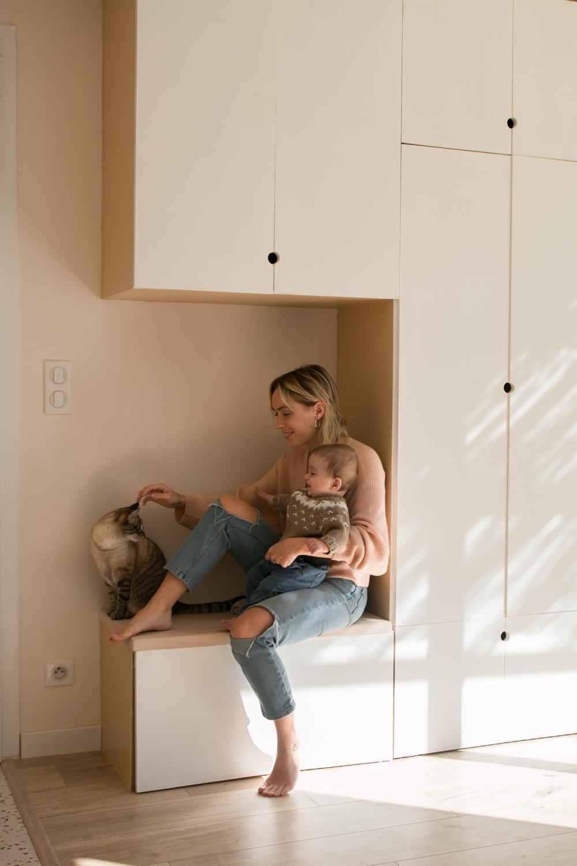 DIY meuble de rangement sur mesure entree-58