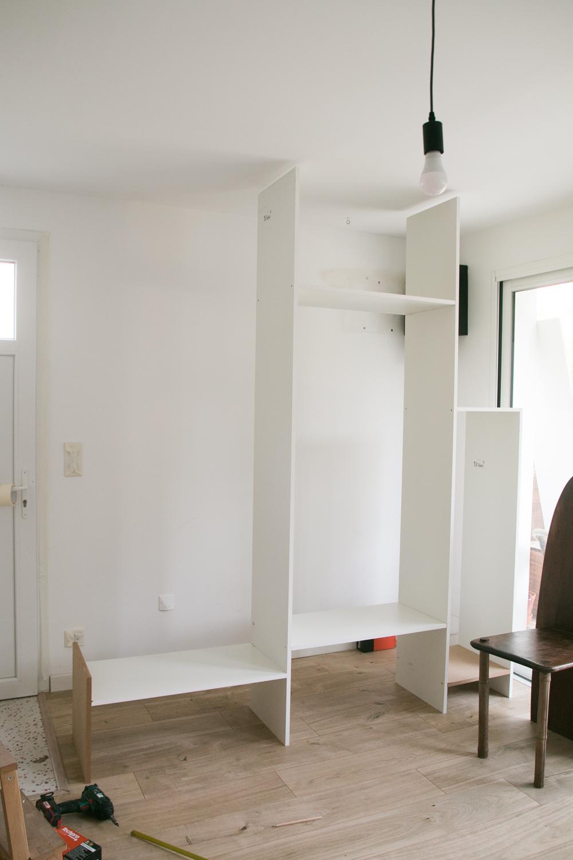 DIY meuble de rangement sur mesure entree-6