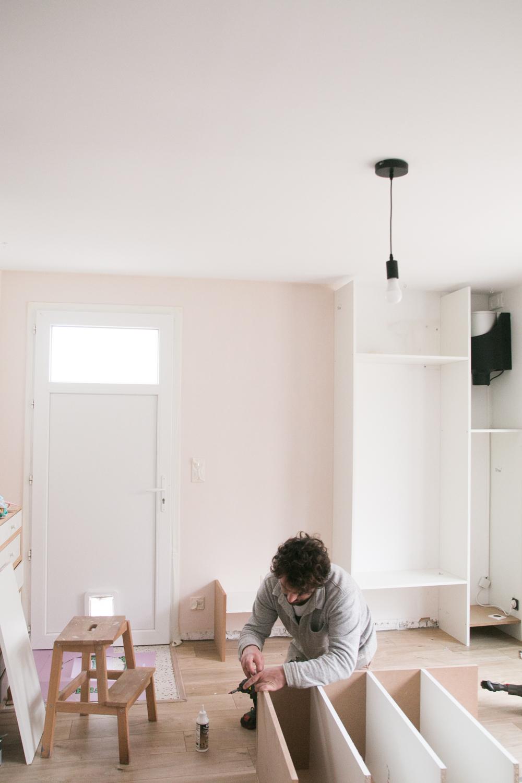 DIY meuble de rangement sur mesure entree-8