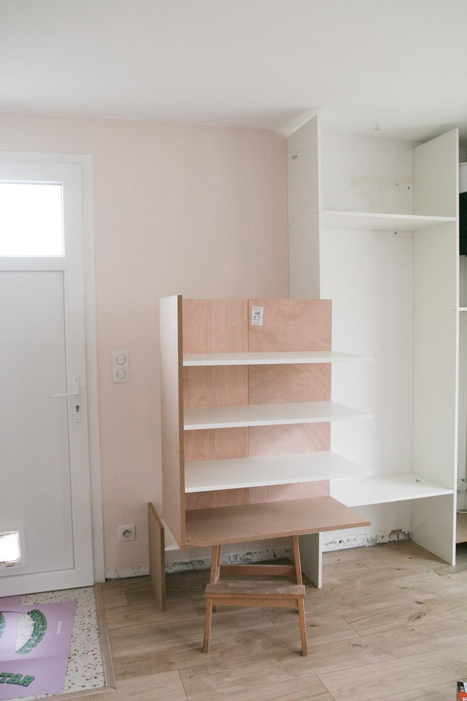 DIY meuble de rangement sur mesure entree-9