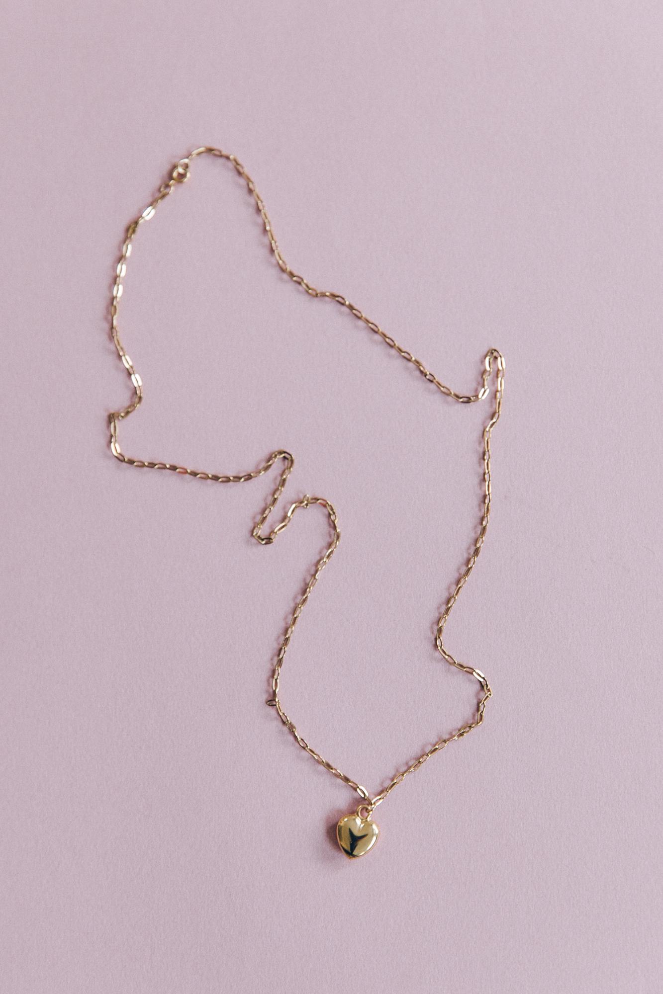 diy collier chaine maille et pendentif coeur doré-12
