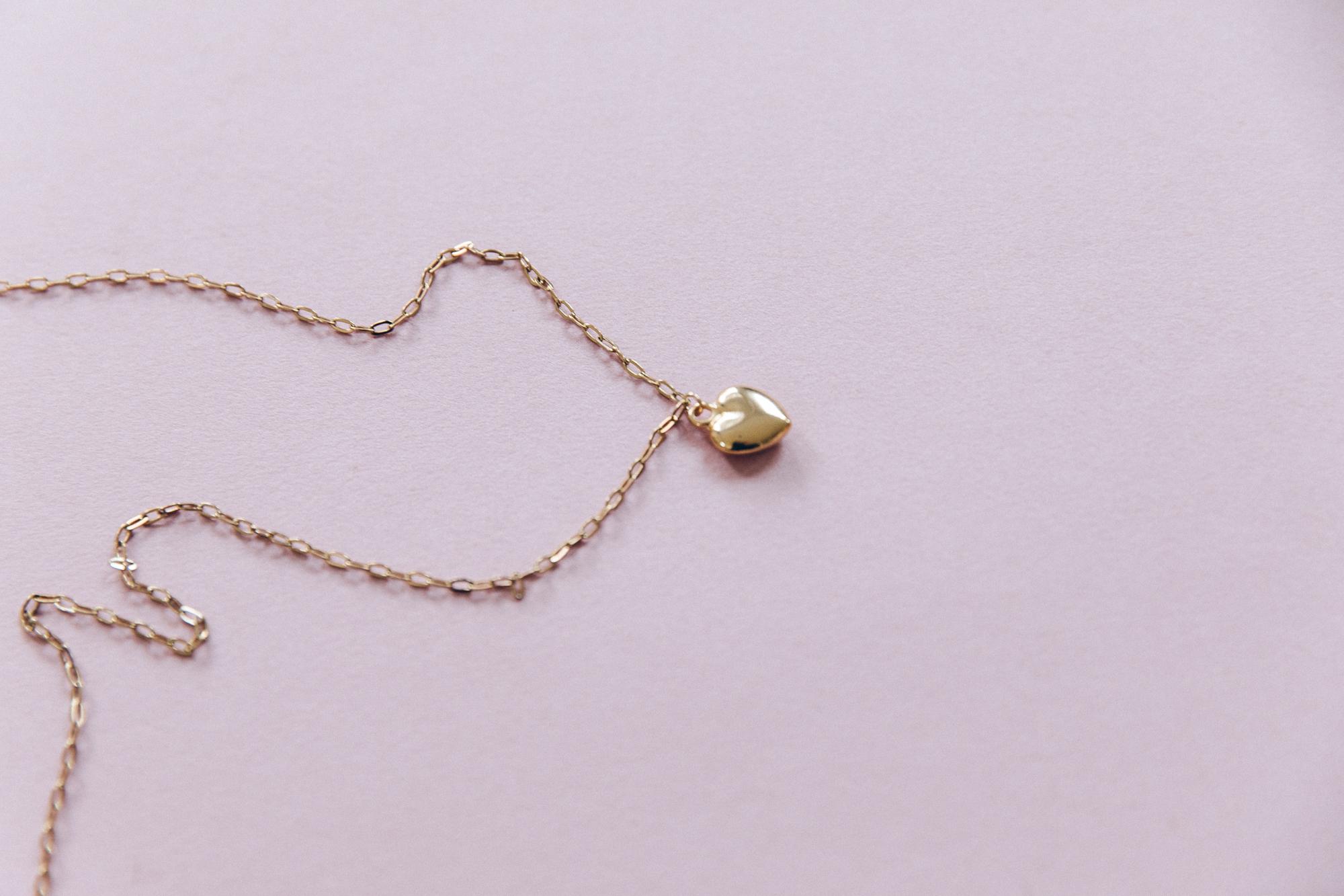 diy collier chaine maille et pendentif coeur doré-13