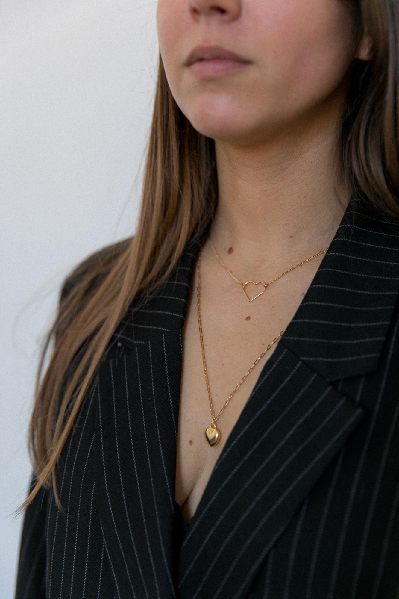 diy collier chaine maille et pendentif coeur doré-16
