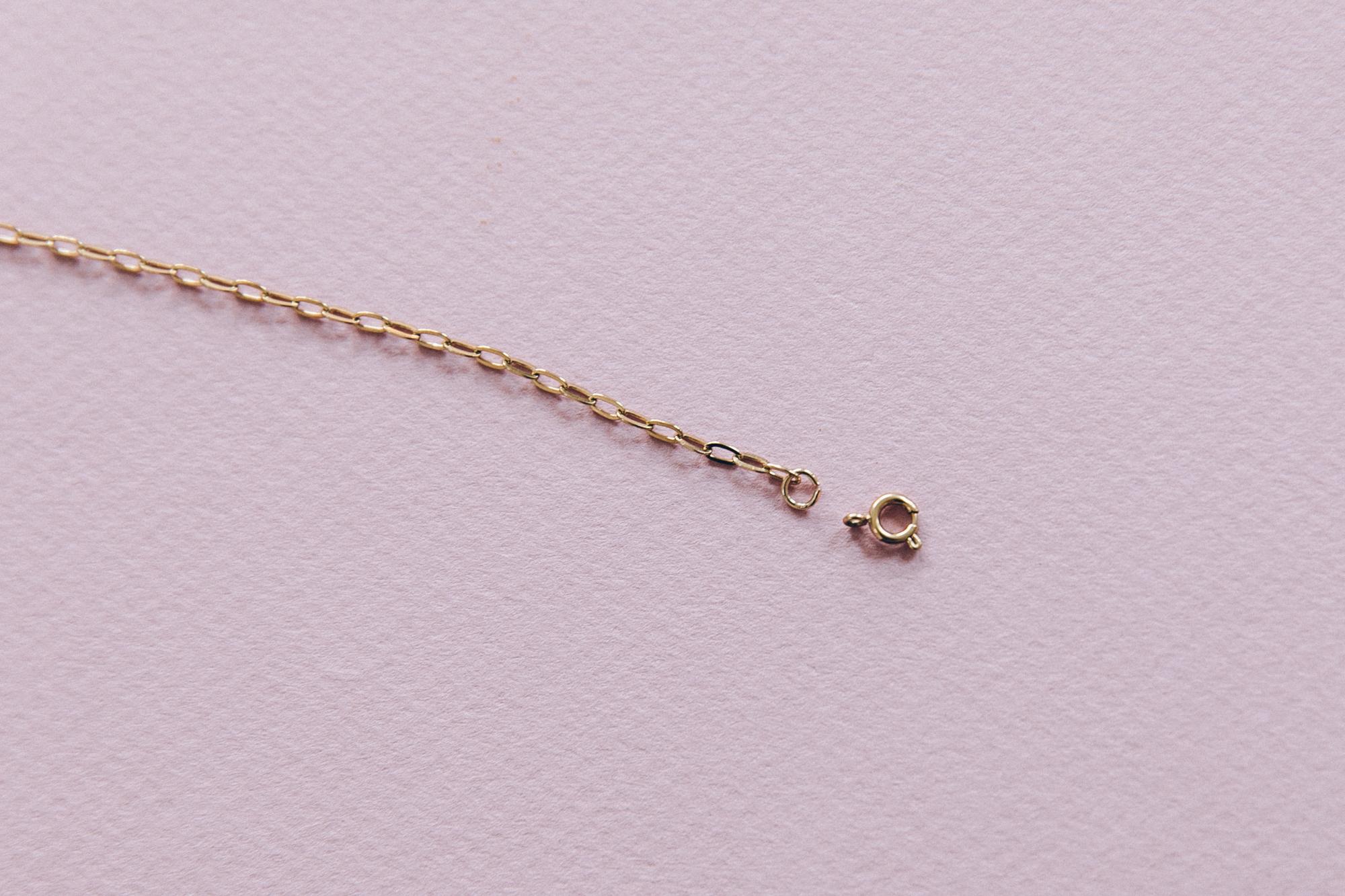 diy collier chaine maille et pendentif coeur doré-5