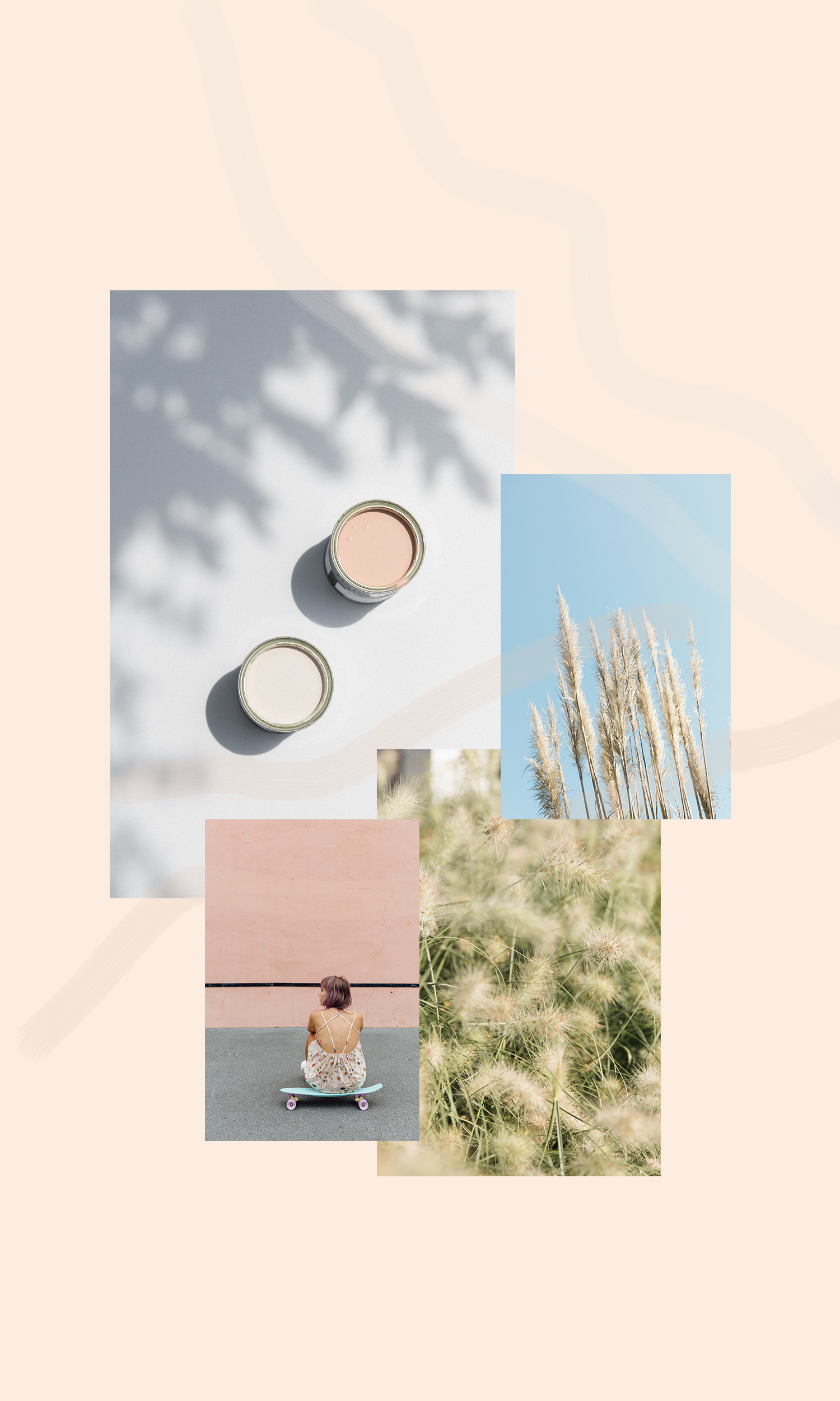 moodboard pampa et golden hour