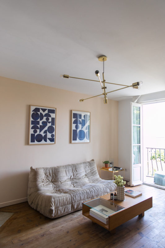 Mur nude beige bouquet de pampa diy peinture-6