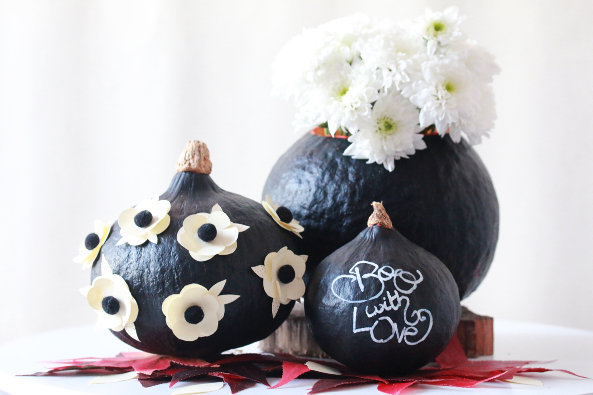 diy 31 de jolies citrouilles pour halloween sp4nk blog. Black Bedroom Furniture Sets. Home Design Ideas