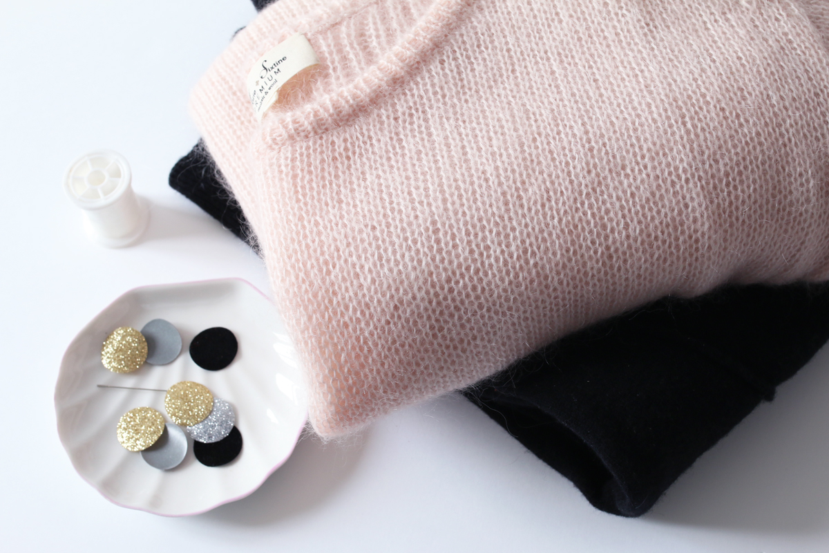 pull à pois thermocollant diy