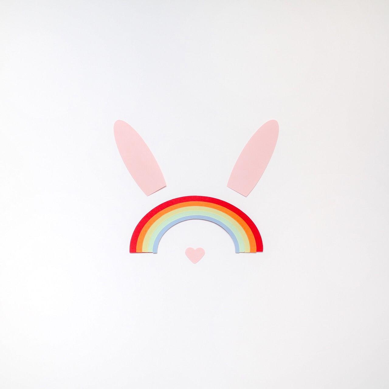 papercut rabbit rainbow I Sp4nkblog