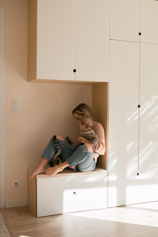 DIY meuble de rangement sur mesure entree-55
